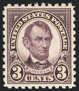 Sale Number 1138, Lot Number 1687, 1922-29 and Later Issues (Scott 556-589)3c Violet, Perf 10 (584), 3c Violet, Perf 10 (584)