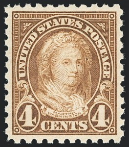 Sale Number 1138, Lot Number 1688, 1922-29 and Later Issues (Scott 556-589)4c Yellow Brown, Perf 10 (585), 4c Yellow Brown, Perf 10 (585)