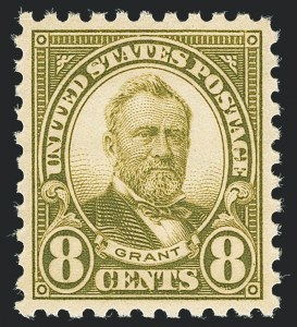 Sale Number 1138, Lot Number 1690, 1922-29 and Later Issues (Scott 556-589)8c Olive Green, Perf 10 (589), 8c Olive Green, Perf 10 (589)