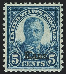 Sale Number 1138, Lot Number 1706, Kansas-Nebraska and Later Issues (Scott 658-701)5c Kans. Ovpt. (663), 5c Kans. Ovpt. (663)