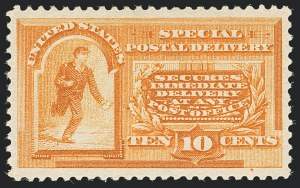 Sale Number 1138, Lot Number 1728, Special Delivery, Registration (Scott E1-E12a, F1)10c Orange, Special Delivery (E3), 10c Orange, Special Delivery (E3)