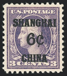 Sale Number 1138, Lot Number 1768, Offices in China (Scott K1-K17)6c on 3c Offices in China (K3), 6c on 3c Offices in China (K3)