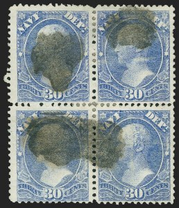 Sale Number 1139, Lot Number 111, Back-of-Book Issues30c Navy (O44), 30c Navy (O44)