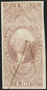 Sale Number 1139, Lot Number 121, Revenues$1.90 Foreign Exchange, Imperforate (R80a), $1.90 Foreign Exchange, Imperforate (R80a)