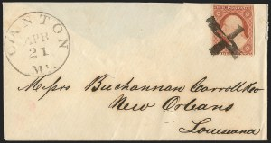 Sale Number 1139, Lot Number 13, Fancy Cancellations3c Dull Red, Ty. II (11A), 3c Dull Red, Ty. II (11A)