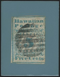 Sale Number 1139, Lot Number 132, HawaiiHAWAII, 1851, 5c Blue (2), HAWAII, 1851, 5c Blue (2)