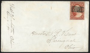Sale Number 1139, Lot Number 14, Fancy Cancellations3c Dull Red, Ty. I (11), 3c Dull Red, Ty. I (11)