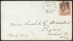 Sale Number 1139, Lot Number 15, Fancy Cancellations3c Rose (65), 3c Rose (65)