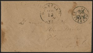 Sale Number 1139, Lot Number 162, Confederate StatesDanville Va., 10c Black entire (21XU4), Danville Va., 10c Black entire (21XU4)