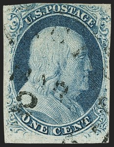 Sale Number 1139, Lot Number 34, 1851-56, 1861-68 Issues1c Blue, Ty. III, Position 99R2 (8), 1c Blue, Ty. III, Position 99R2 (8)