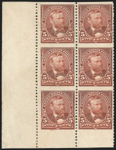 Sale Number 1139, Lot Number 69, 1894-98 Bureau Issues5c Chocolate, Imperforate Horizontally (255c), 5c Chocolate, Imperforate Horizontally (255c)