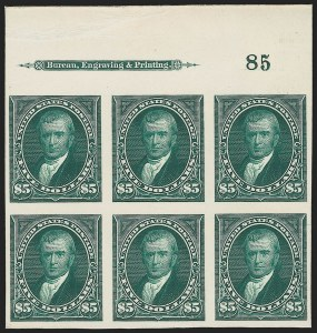 Sale Number 1139, Lot Number 73, 1894-98 Bureau Issues$5.00 Dark Green, Plate Proof on Card (263P4), $5.00 Dark Green, Plate Proof on Card (263P4)