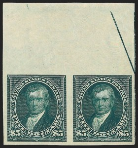 Sale Number 1139, Lot Number 76, 1894-98 Bureau Issues$5.00 Dark Green, Imperforate (278a), $5.00 Dark Green, Imperforate (278a)