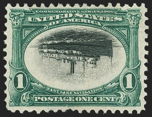Sale Number 1139, Lot Number 80, Trans-Mississippi and Pan American Issues1c Pan-American, Center Inverted (294a), 1c Pan-American, Center Inverted (294a)