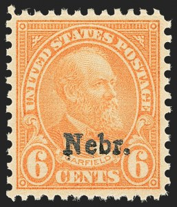 Sale Number 1140, Lot Number 1011, 1925 and Later Issues (Scott 620-734a)6c Nebr. Ovpt. (675), 6c Nebr. Ovpt. (675)