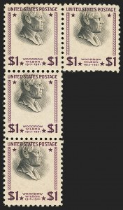 Sale Number 1140, Lot Number 1017, Presidential Issue and Later Issues (Scott 832-4806)$1.00 Presidential (832), $1.00 Presidential (832)