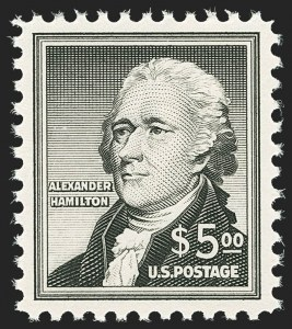 Sale Number 1140, Lot Number 1024, Presidential Issue and Later Issues (Scott 832-4806)$5.00 Hamilton (1053), $5.00 Hamilton (1053)