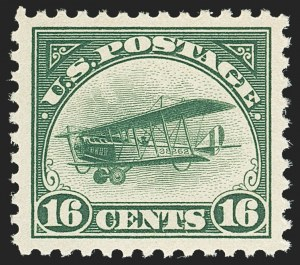 Sale Number 1140, Lot Number 1036, Air Post (C1-C12)16c Green, 1918 Air Post (C2), 16c Green, 1918 Air Post (C2)