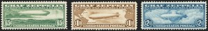 Sale Number 1140, Lot Number 1066, Air Post, cont. (C13-C23a)65c-$2.60 Graf Zeppelin (C13-C15), 65c-$2.60 Graf Zeppelin (C13-C15)