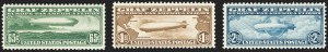 Sale Number 1140, Lot Number 1067, Air Post, cont. (C13-C23a)65c-$2.60 Graf Zeppelin (C13-C15), 65c-$2.60 Graf Zeppelin (C13-C15)