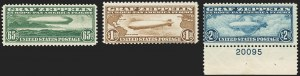 Sale Number 1140, Lot Number 1071, Air Post, cont. (C13-C23a)65c-$2.60 Graf Zeppelin (C13-C15), 65c-$2.60 Graf Zeppelin (C13-C15)