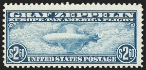 Sale Number 1140, Lot Number 1073, Air Post, cont. (C13-C23a)65c, $2.60 Graf Zeppelin (C13, C15), 65c, $2.60 Graf Zeppelin (C13, C15)
