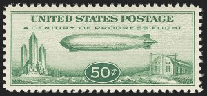 Sale Number 1140, Lot Number 1091, Air Post, cont. (C13-C23a)50c Chicago Zeppelin (C18), 50c Chicago Zeppelin (C18)