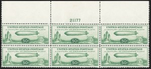 Sale Number 1140, Lot Number 1093, Air Post, cont. (C13-C23a)50c Chicago Zeppelin (C18), 50c Chicago Zeppelin (C18)