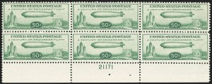 Sale Number 1140, Lot Number 1094, Air Post, cont. (C13-C23a)50c Chicago Zeppelin (C18), 50c Chicago Zeppelin (C18)