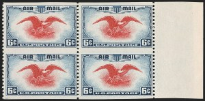 Sale Number 1140, Lot Number 1097, Air Post, cont. (C13-C23a)6c Dark Blue & Carmine, Vertical Pair, Imperforate Horizontally (C23a), 6c Dark Blue & Carmine, Vertical Pair, Imperforate Horizontally (C23a)