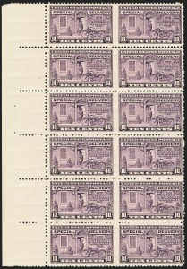 Sale Number 1140, Lot Number 1111, Special Delivery10c Gray Violet, Special Delivery, Horizontal Pair, Imperforate Between (E15c), 10c Gray Violet, Special Delivery, Horizontal Pair, Imperforate Between (E15c)