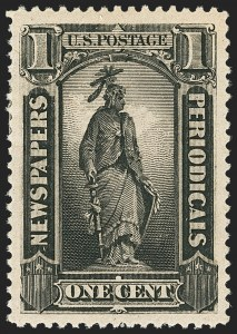 Sale Number 1140, Lot Number 1232, Newspapers and Periodicals1c Intense Black, 1894 Issue (PR90), 1c Intense Black, 1894 Issue (PR90)
