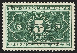Sale Number 1140, Lot Number 1261, Parcel Post5c Dark Green, Parcel Post Postage Due (JQ3), 5c Dark Green, Parcel Post Postage Due (JQ3)