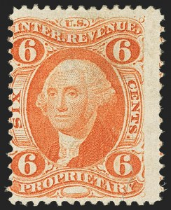 Sale Number 1140, Lot Number 1339, Revenues6c Proprietary, Perforated (R31c), 6c Proprietary, Perforated (R31c)