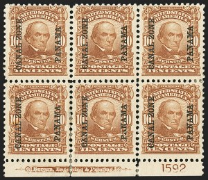 Sale Number 1140, Lot Number 1485, U.S. Possessions, Canal ZoneCANAL ZONE, 1904, 1c-10c Ovpts. (4-8), CANAL ZONE, 1904, 1c-10c Ovpts. (4-8)