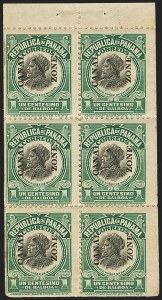 Sale Number 1140, Lot Number 1488, U.S. Possessions, Canal ZoneCANAL ZONE, 1920, 1c Light Green & Black, Booklet Pane of Six (55e), CANAL ZONE, 1920, 1c Light Green & Black, Booklet Pane of Six (55e)