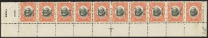 Sale Number 1140, Lot Number 1489, U.S. Possessions, Canal ZoneCANAL ZONE, 1920, 2c Orange Vermilion & Black, Horizontal Pair, Right Stamp Without Ovpt. (56c), CANAL ZONE, 1920, 2c Orange Vermilion & Black, Horizontal Pair, Right Stamp Without Ovpt. (56c)