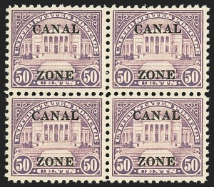 Sale Number 1140, Lot Number 1490, U.S. Possessions, Canal ZoneCANAL ZONE, 1925-28, 2c-$1.00 Ty. B Ovpts. (84-95), CANAL ZONE, 1925-28, 2c-$1.00 Ty. B Ovpts. (84-95)