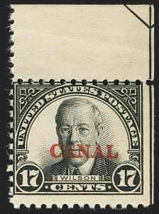 "Sale Number 1140, Lot Number 1492, U.S. Possessions, Canal ZoneCANAL ZONE, 1926, 17c Black, ""Canal"" Only (91b), CANAL ZONE, 1926, 17c Black, ""Canal"" Only (91b)"