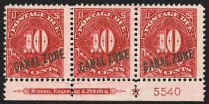 Sale Number 1140, Lot Number 1493, U.S. Possessions, Canal ZoneCANAL ZONE, 1914, 10c Rose Carmine, Postage Due (J3), CANAL ZONE, 1914, 10c Rose Carmine, Postage Due (J3)