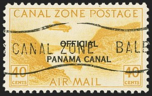 "Sale Number 1140, Lot Number 1495, U.S. Possessions, Canal ZoneCANAL ZONE, 1921, 5c-40c Air Post Officials, ""Panama Canal"" 17mm Long (CO8-CO12), CANAL ZONE, 1921, 5c-40c Air Post Officials, ""Panama Canal"" 17mm Long (CO8-CO12)"