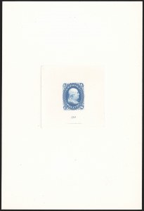 Sale Number 1140, Lot Number 213, Essays and Proofs1c Blue, Large Die Proof on India (63P1), 1c Blue, Large Die Proof on India (63P1)