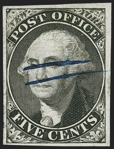 Sale Number 1140, Lot Number 279, Postmasters ProvisionalsNew York N.Y., 5c Black, Without Signature (9X1e), New York N.Y., 5c Black, Without Signature (9X1e)