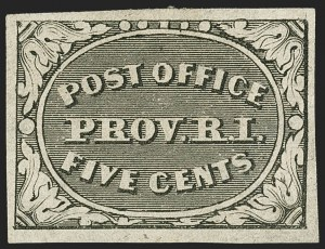 Sale Number 1140, Lot Number 281, Postmasters ProvisionalsProvidence, Rhode Island, 5c & 10c Gray Black (10X1, 10X2), Providence, Rhode Island, 5c & 10c Gray Black (10X1, 10X2)