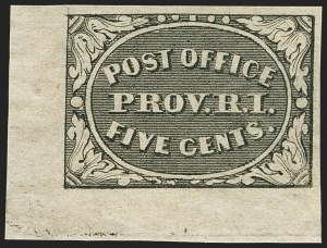 Sale Number 1140, Lot Number 282, Postmasters ProvisionalsProvidence, Rhode Island, 5c Gray Black (10X1), Providence, Rhode Island, 5c Gray Black (10X1)
