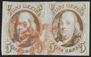 Sale Number 1140, Lot Number 292, 1847 Issue (Scott 1-2)5c Red Brown (1), 5c Red Brown (1)