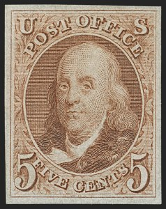 Sale Number 1140, Lot Number 306, 1875 Reproduction of 1847 Issue (Scott 3-4)5c Red Brown, Reproduction (3), 5c Red Brown, Reproduction (3)
