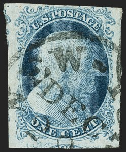 Sale Number 1140, Lot Number 311, 1851-56 Issue (Scott 5-17)1c Blue, Ty. Ib (5A), 1c Blue, Ty. Ib (5A)