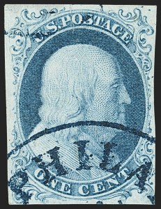Sale Number 1140, Lot Number 312, 1851-56 Issue (Scott 5-17)1c Blue, Ty. Ib (5A), 1c Blue, Ty. Ib (5A)