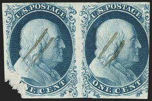 Sale Number 1140, Lot Number 314, 1851-56 Issue (Scott 5-17)1c Blue, Ty. Ia (6), 1c Blue, Ty. Ia (6)